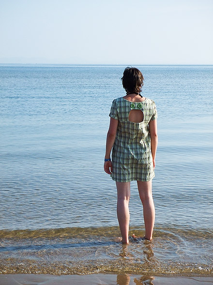 an image of Heather looking out to sea