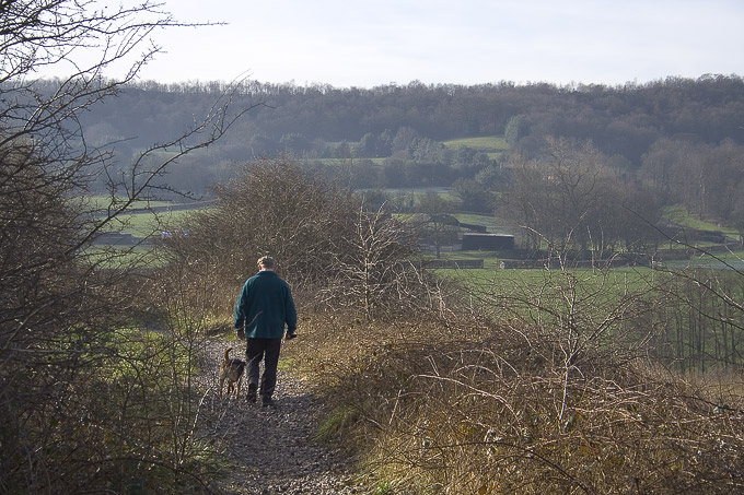 an image of Dad and Jake out walking