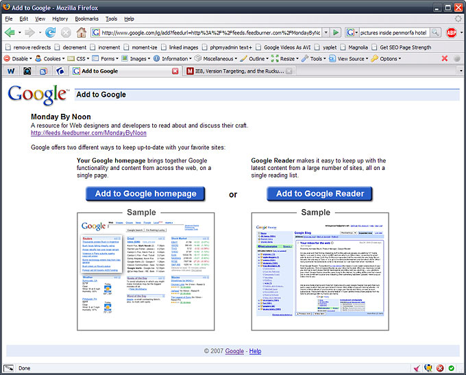 screenshot of redundant Google screen